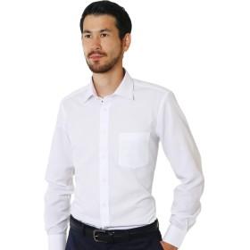 ワイシャツ 長袖 形態安定 ショートワイドカラー 6種類 M(82)スリム/sw-sm-82-dw1314