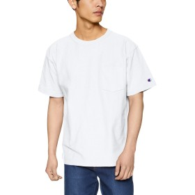 [チャンピオン] リバースウィーブ ポケットTシャツ C3-P318 メンズ ホワイト 日本 L (日本サイズL相当)