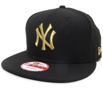 (ニューエラ) New Era スナップバックキャップ NY ヤンキース 黒/金 11308473 ブラック/ゴールド 9FIFTY MLB NEW YORK YANKEES