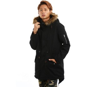 インプローブス モッズコート メンズ アウター ロングコート ミリタリー 黒 緑 オリーブ 大きい ブラック XL サイズ