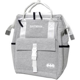バットマン リュックサック 手提げ 2WAY バックパック BATMAN ガマグチ かばん デイパック ユニセックス (杢グレー)