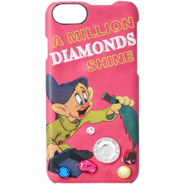 [アコモデ] [Disney] ディズニー スノーホワイト デコレート iPhoneケース 白雪姫 小人 iPhone6/6s/7/8対応 ピンク