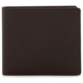 [ヘレナ] 二つ折り財布 エスプリ メンズ 3491 【03】チョコ×ブラウン