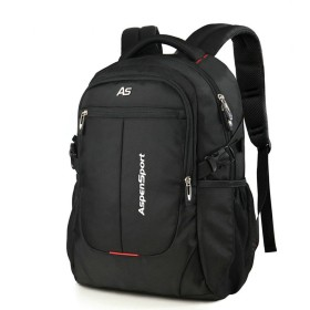 ASPENSPORT パソコンバックパック Laptop Backpack ビジネス リュック 高校生 登山 出張 旅行かばん 通学通勤 スポーツ ギフト (15.6インチPC対応(32.5L), ブラック)
