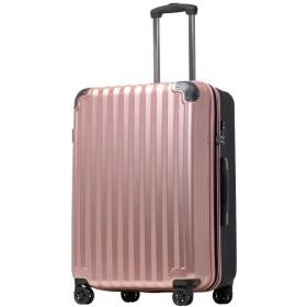 サイズが選べる スーツケース TSAロック 容量アップ拡張機能付 ダブルキャスター8輪 ファスナータイプ