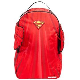 【B1281】 スプレーグラウンド SPRAY GROUND バックパック パソコンケース おしゃれ かっこいい スーパーマン 羽根 限定コラボ 総柄 (01) 赤 Fサイズ(男女兼用)