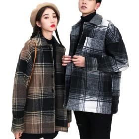[美しいです] レディース コート スエード 折り襟 防寒 防風 ロング丈 カジュアル 保温性 軽量 ゆったり 冬服  ムートンコート (XL, コーヒー)