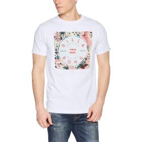 [ビラボン] [メンズ] 半袖 プリント Tシャツ (レギュラーFIT)[ AJ011-203 / SQUARE BOX LOGO TEE ] おしゃれ ロゴ WCO_ホワイト・マルチ US S (日本サイズS相当)