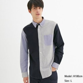 (GU)オックスフォードシャツ(長袖)(クレイジー1) 81 XS