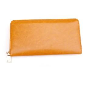 牛革 ラウンドファスナー 長財布 レザータイプ 財布 レディース メンズ YW-001-9
