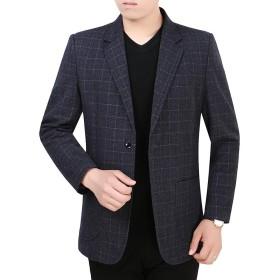 FOMANSH テーラードジャケット メンズ スーツ ジャケット 秋冬 2つボタン ビジネス カジュアル 厚手 長袖 高品質 大きいサイズ M-4XL ジャケット 冬服 テーラード アウター ブレザー