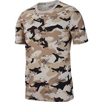 ナイキ(NIKE) DRI-FIT コットンカモ AOP Tシャツ 923549 092 デザートサンド/ホワイト L
