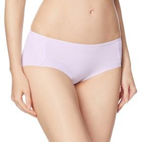 [グンゼ] ショーツ いいここち ひびきにくい綿85% ハーフショーツ HR0570 レディース パ-プルホワイト 日本LL (日本サイズ2L相当)