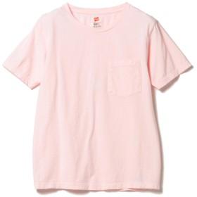 (ビームスボーイ)BEAMS BOY/Tシャツ Hanes/POCKET-TEE レディース POWDER PINK ONE SIZE