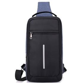 [Enseed アンシード] ワンショルダーバッグ メンズ ボディバッグ 防水 左右フックあり USBポート付き 4カラー (ブルー)