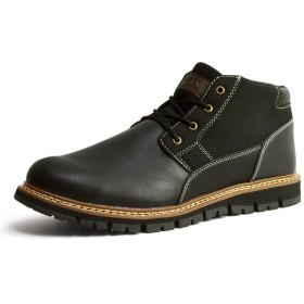 [リベルトエドウィン] 防水 ブーツ メンズ レイン シューズ スニーカー スノー カジュアル ワークブーツ トレッキング 靴 防寒 28cm ブラック