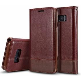 Galaxy Note 8 ケース、 Dfly 高級 PUレザー 手帳 財布型 スタンド機能 デュアルサイド マグネット開閉 保護カバー Samsung Galaxy Note 8、 ブラウン