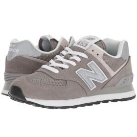 New Balance Classics(ニューバランス クラシック) レディース 女性用 シューズ 靴 スニーカー 運動靴 WL574v2 - Grey/White 6.5 D - Wide [並行輸入品]