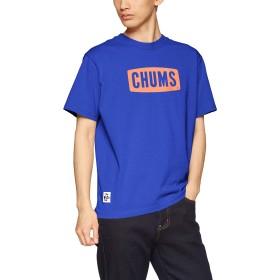 [チャムス] Tシャツ CHUMS Logo T-Shirt Blue Hawaii 日本 S (日本サイズS相当)
