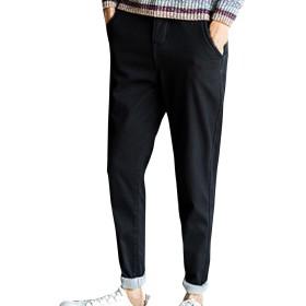 (ネルロッソ) NERLosso ロングパンツ 裏起毛 暖かい あったか 秋冬 チノパン メンズ 暖パン 防寒 裏ボア ワーク 大きいサイズ スラックス 正規品 30サイズ ブラック cmi24140-30-bl