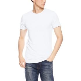 [ベルメゾン] あったか インナー ホットコット 綿混 クルーネック 半袖 C21255 メンズ オフホワイト XL