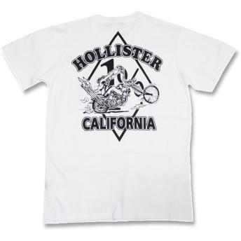 バイカーTシャツ・HOLLISTER CALIFORNIA・ホリスターカリフォルニア(半袖Tシャツ) (L:アメリカンサイズ)