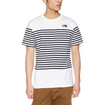 [ザ・ノース・フェイス] Tシャツ ショートスリーブパネルボーダーティー メンズ ホワイト 日本 L (日本サイズL相当)