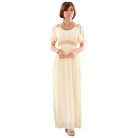 [sweet bell] ロングドレス ドレス ロング パーティードレス 演奏会 結婚式 キャバ フォーマル シャンパン 大きいサイズ 4Lサイズ 17号
