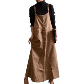 (Goldjapan)ゴールドジャパン 大きいサイズ レディース サロペット オールインワン スカート wc-0130 3L ベージュ