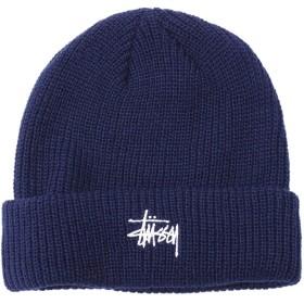 [ステューシー] STUSSY ニット帽 HO18 Basic Cuff フリー ネイビー [並行輸入品]
