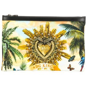 Dolce & Gabbana Tropical King クラッチバッグ - イエロー