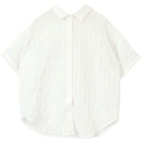 ティティベイト バックリボンオーバーサイズシャツ レディース ホワイト F 【titivate】