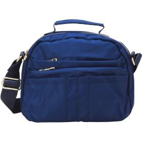 [PIENILO] ショルダーバッグ レディース 斜めがけ バッグ ミニ 11ポケット (ブルー)