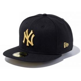 【メーカー取次】 NEW ERA 59FIFTY UNDERVISOR ニューヨーク・ヤンキース ブラック×ゴールド BROOKLYN 11308542 キャップ (ブラック×ゴールド 表記7 7/8)