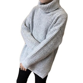 PIITE 厚手 タートルネック ニットセーター メンズ 冬 ゆったり 無地シンプル ニット プルオーバー 防寒 カジュアル シンプル セーター 韓国風 ニット(9ライトグレー)