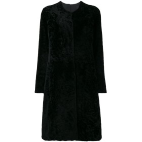 Giorgio Brato ファー シングルブレスト コート - ブラック