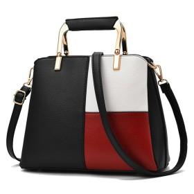 DOODOO レディース バッグ Shoulder Hand Bag for Women ハンド ショルダー PUレザー 肩掛け ミニ 斜めかけ トート ブラック