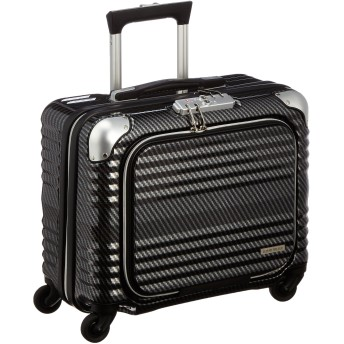 [レジェンドウォーカー] スーツケース ジッパー BLADE 機内持ち込み可 フロントオープン 6206-44【Amazon.co.jp限定】 保証付 32L 40 cm 3kg ラフカーボンブラックシルバー