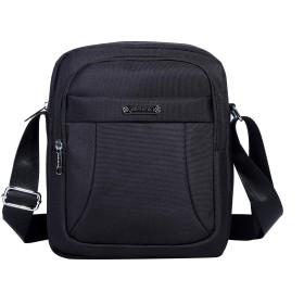 DAVIDNILEショルダーバッグ メンズ 大容量 メッセンジャーバッグ ワンショルダーバッグ 防水 斜めかけバッグ カジュアル ビジネス A4対応 (1602-2-Black) …