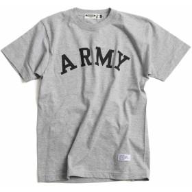 (エムエイチエー) M.H.A.style ARMY プリントTシャツ CAMPFREE メンズ レディース ユニセックス 10110 B.ヘザーグレー