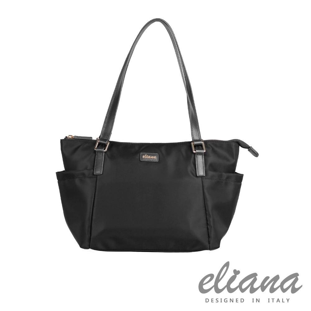 【eliana】BREEZE微風系列輕量購物袋(摩登黑)/EN131S05BK