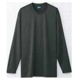 (ドライ+デオドラント)DRY+D 吸汗速乾にすぐれたドライ生地と消臭テープを使用 高機能長袖Tシャツ S~3L・4Lサイズ (L, チャコールグレー)
