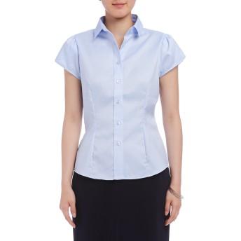 【77%OFF】オックスフォード チューリップスリーブシャツ ブルー 1