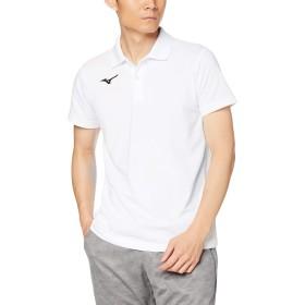 [Mizuno] トレーニングウェア ポロシャツ 半袖 スタンダード 32MA9195 ホワイト×ブラック 日本 L (日本サイズL相当)