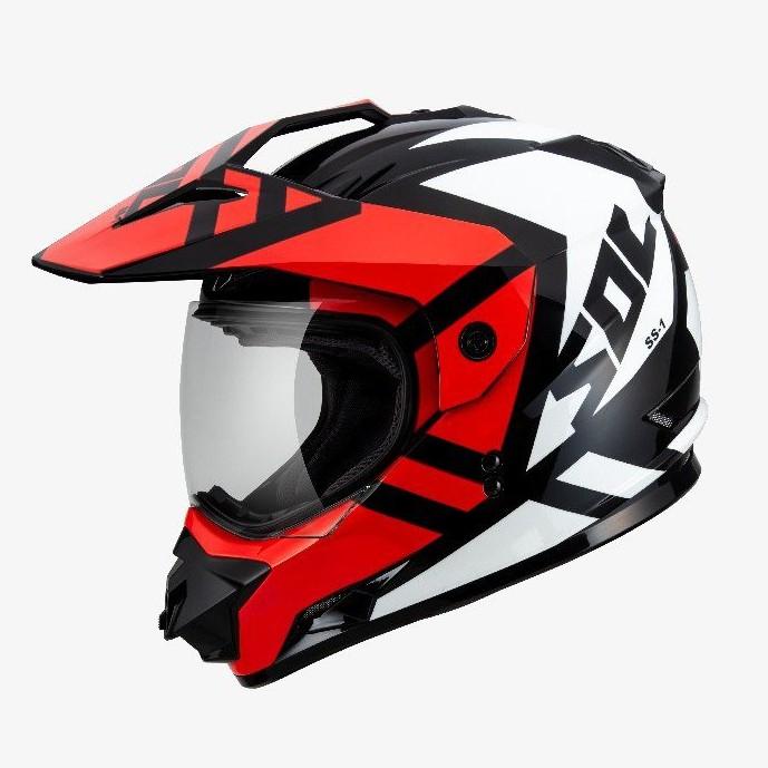 SOL 全罩 安全帽 SS1 SS-1 荒野 黑白紅 越野帽 可變換帽型 全可拆內襯 雙D扣《比帽王》