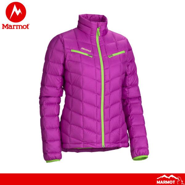 【Marmot 美國 女 羽絨外套《紫》】786706080防風/防水/透氣/鴨絨/防風夾克/保暖外套