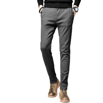 ROMANEE-CONTIチノパン メンズ ストレッチ ズボン スキニーパンツ 薄手 涼しい 大きいサイズ ボトムス カジュアル 下着 春 夏 ブラック ネイビー 灰緑 綿 細身 美脚