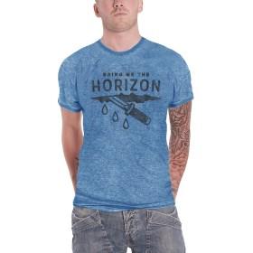 Bring Me The Horizon T Shirt Wound Band Logo 公式 メンズ 新しい ブルー Burnout Size M
