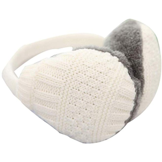 イヤーマフ レディース 可愛い 防寒 耳当て 耳カバー 折り畳み コンパクト 調節可能な 13色 (151710cm, C)