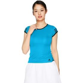 [アディダス] テニスウェア CLUB 3ST Tシャツ [レディース] FRO19 ショックシアンS19 (DU0959) 日本 J/M (日本サイズM相当)